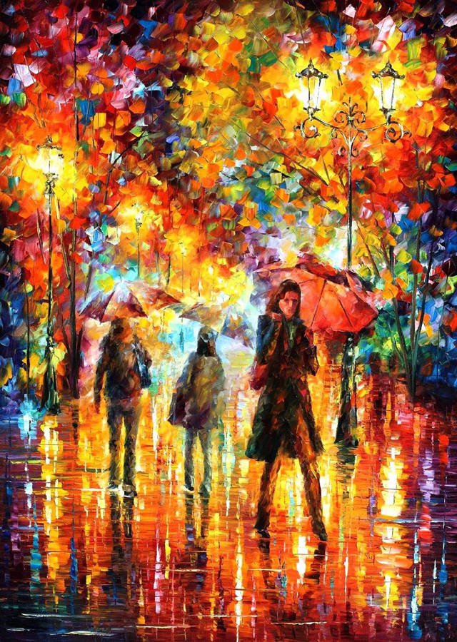 leonid afremov born july 12 in vitebsk belarus is a russian u2013 israeli modern artist who works mainly with a palette knife and oils