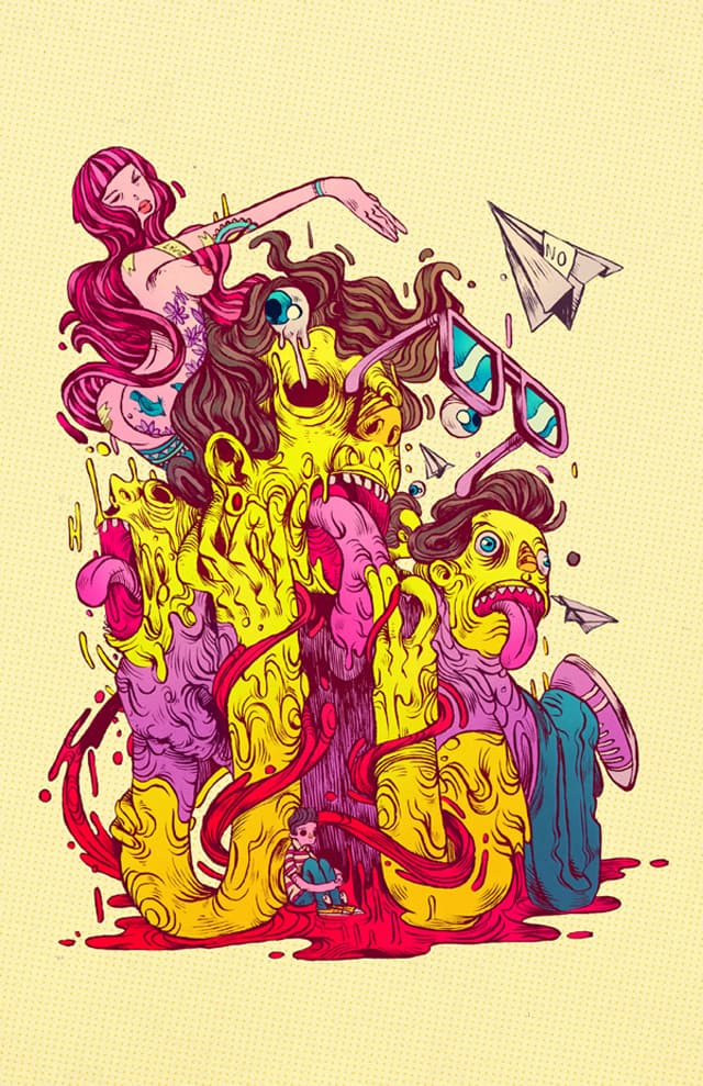 Colourful and dynamic illustrations from Chihuahua, Mexico based illustrator Raul Urias _02