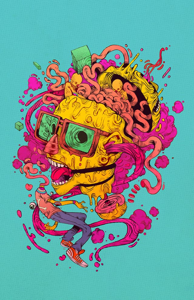 Colourful and dynamic illustrations from Chihuahua, Mexico based illustrator Raul Urias _04