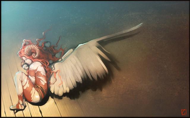 fallen_angel2_by_gaudibuendia-d6y1a3r