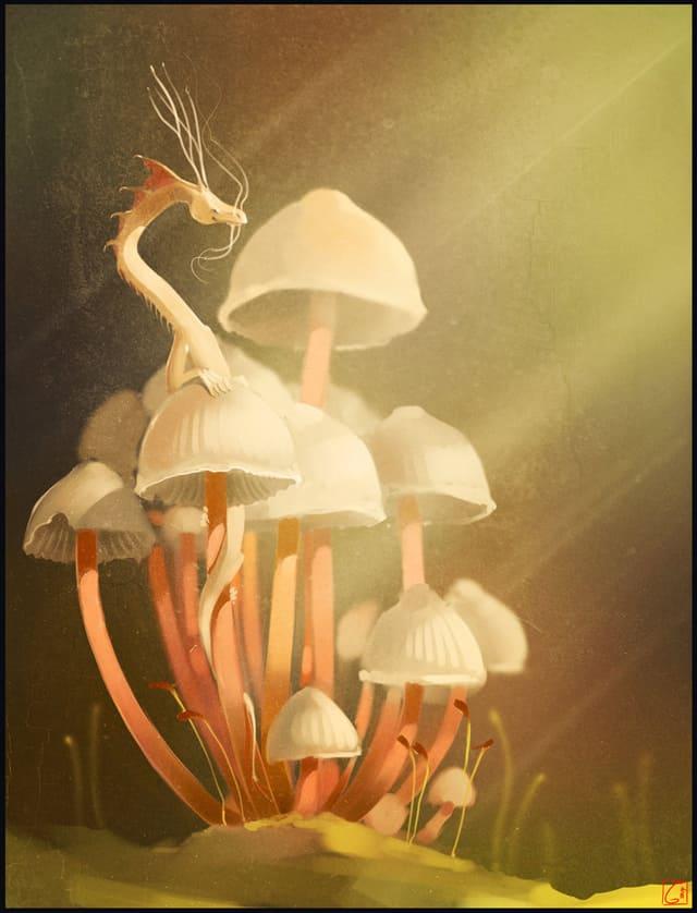 mushroom_s_dragon_by_gaudibuendia-d71d189