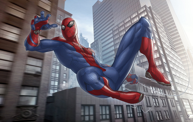 the_amazing_spider_man_by_patrickbrown-d46uu8l